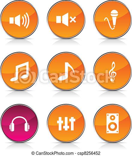 オーディオ, icons. - csp8256452