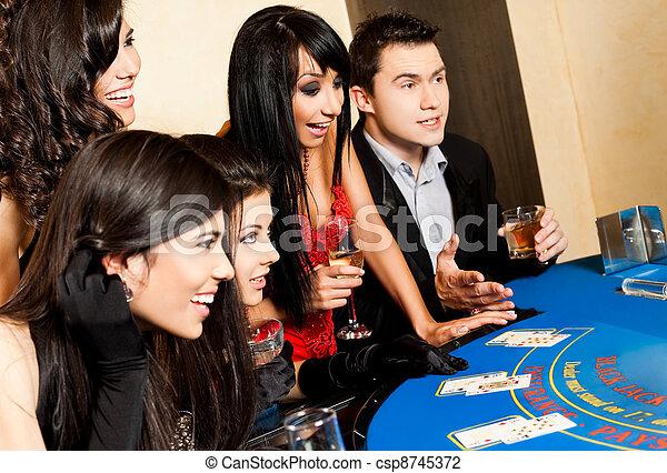 カジノ, 黒, 若い人々, ジャッキ - csp8745372