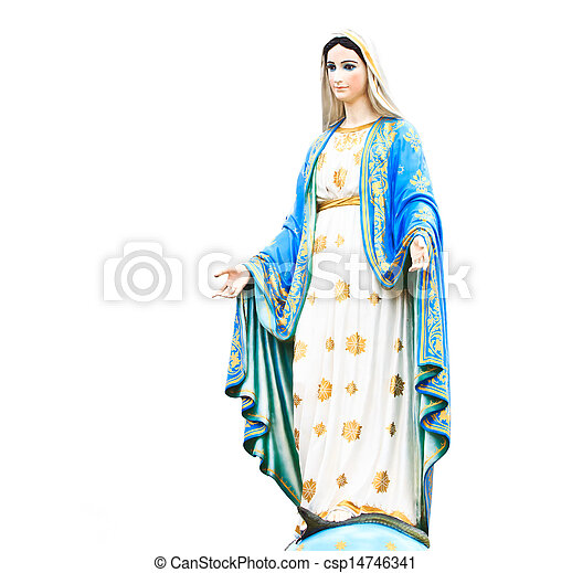 カトリック教, 新しい, ローマ人, 像, 教会, mary - csp14746341