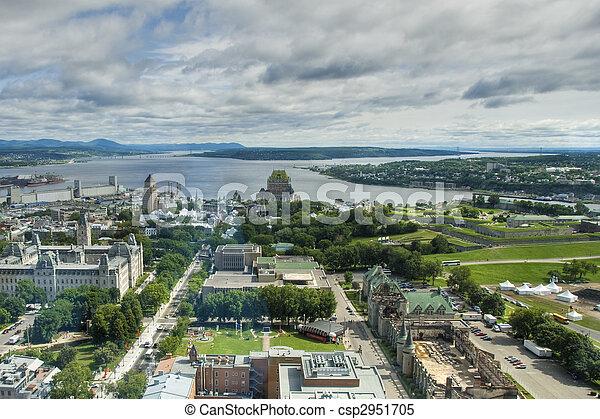 カナダ, ホテル, de, ケベック, frontenac - csp2951705