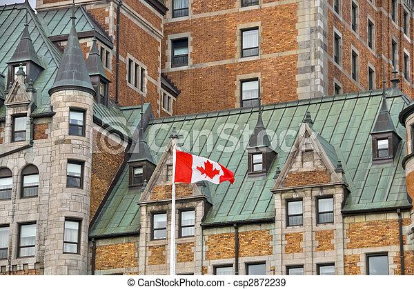 カナダ, ホテル, de, ケベック, frontenac - csp2872239
