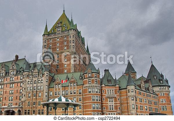 カナダ, ホテル, de, ケベック, frontenac - csp2722494