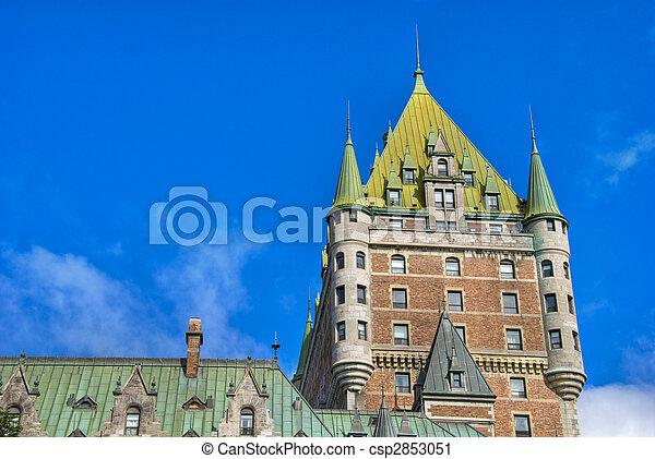 カナダ, ホテル, de, ケベック, frontenac - csp2853051
