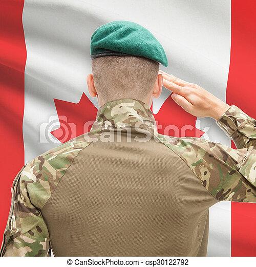 カナダ, 力, シリーズ, 国民, -, 旗, 背景, 概念, 軍 - csp30122792