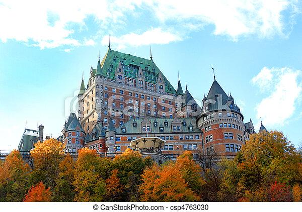 カナダ, 城, ケベック 都市 - csp4763030