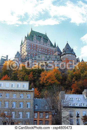 カナダ, 城, ケベック 都市 - csp4805473