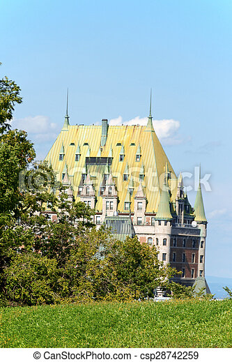 カナダ, 都市, ホテル frontenac, ケベック, 城 - csp28742259