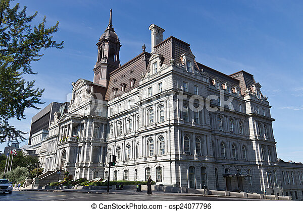 カナダ, 都市, 古い, 国民, サイト, 歴史的, ホール, モントリオール - csp24077796