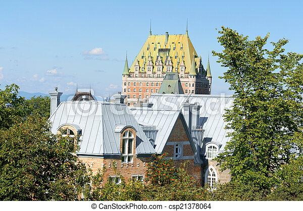カナダ, 都市, 屋根, ケベック - csp21378064