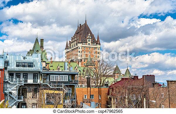 カナダ, 都市, frontenac, ケベック, 城, 光景 - csp47962565
