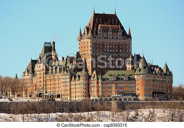 カナダ, frontenac, 城, ケベック 都市 - csp9393315