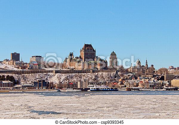 カナダ, frontenac, 城, ケベック 都市 - csp9393345
