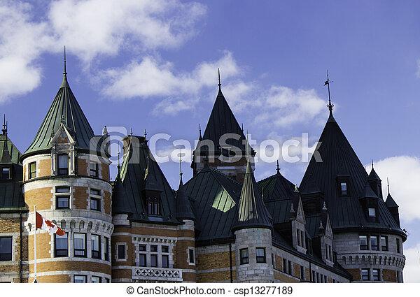 カナダ, frontenac, 城, ケベック 都市 - csp13277189