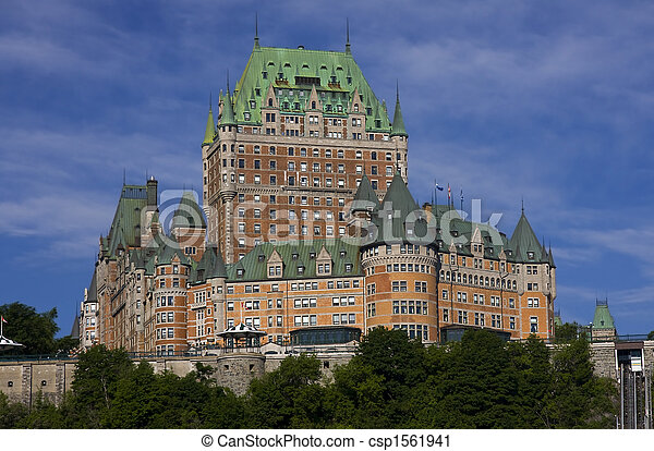 カナダ, frontenac, 城, ケベック 都市 - csp1561941