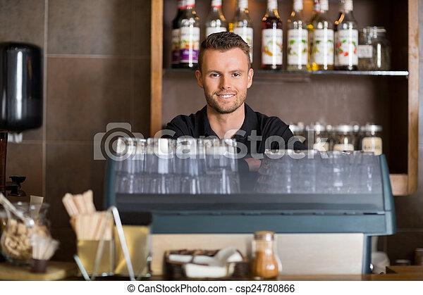 カフェ, バーテンダー, 痛みなさい, マレ, カウンター - csp24780866