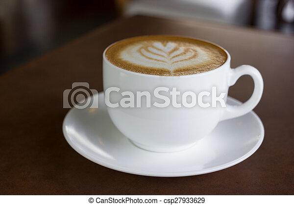 カプチーノ, 芸術, coffee., カップ, latte, ∥あるいは∥ - csp27933629