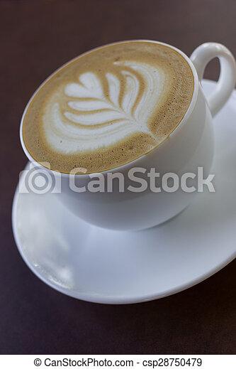 カプチーノ, 芸術, coffee., カップ, latte, ∥あるいは∥ - csp28750479