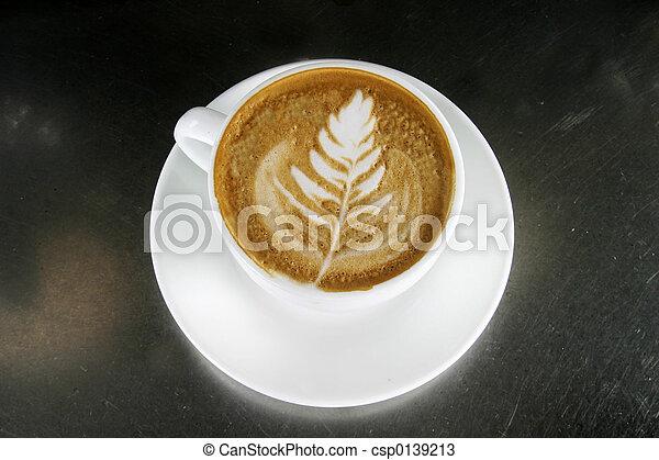 カプチーノ, 芸術, latte - csp0139213