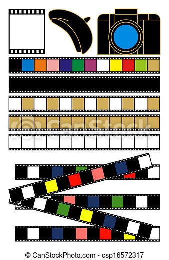 カメラ, 否定的, イラスト, フィルム - csp16572317