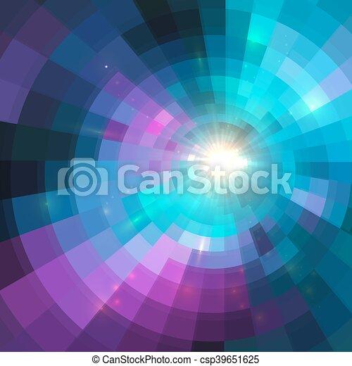 カラフルである, トンネル, 抽象的, 背景, 円, 照ること - csp39651625