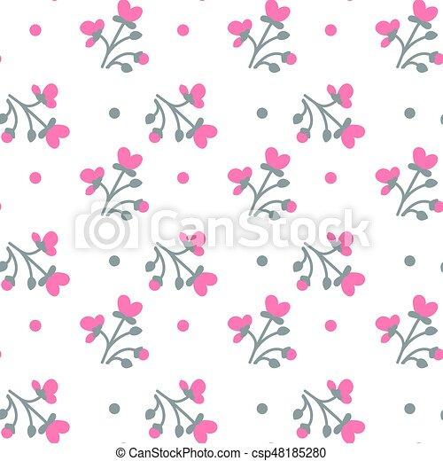 カラフルである, パターン, seamless, 背景, 白い花 - csp48185280