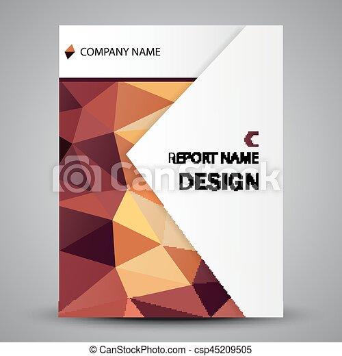 カラフルである, 抽象的, カバー, 形, デザイン, テンプレート - csp45209505