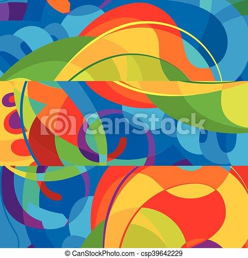 カラフルである, 抽象的, 現代, バックグラウンド。, デザイン, テンプレート - csp39642229