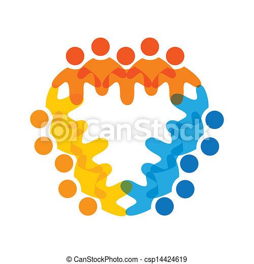 カラフルである, 概念, 共同体, 遊び, 友情, 従業員, 企業である, ベクトル, 子供, &, 従業員, 共用体, 多様性, チーム, 表す, 共有, icons(signs)., 労働者, イラスト, graphic-, のように, 概念, ∥など∥ - csp14424619