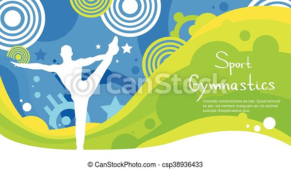 カラフルである, 運動選手, 競争, 体操, スポーツ, 旗 - csp38936433