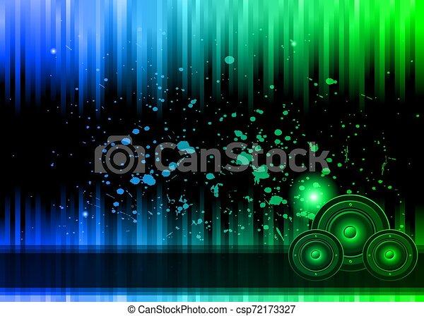 カラフルである, elements., クラブ, ポスター, ディスコ, バックグラウンド。, 理想, フライヤ, 音楽 - csp72173327
