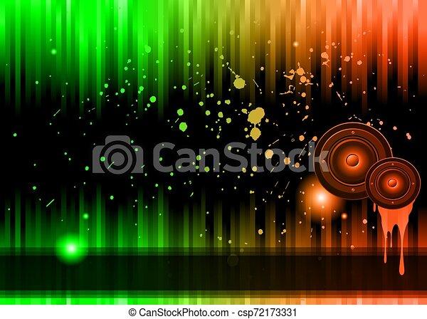 カラフルである, elements., クラブ, ポスター, ディスコ, バックグラウンド。, 理想, フライヤ, 音楽 - csp72173331
