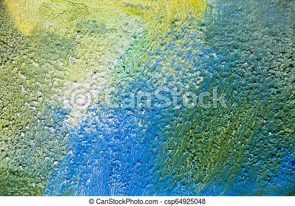 カラーブロック, yellow), 抽象的, 背景, コンクリート, 絵, (blue, 緑 - csp64925048
