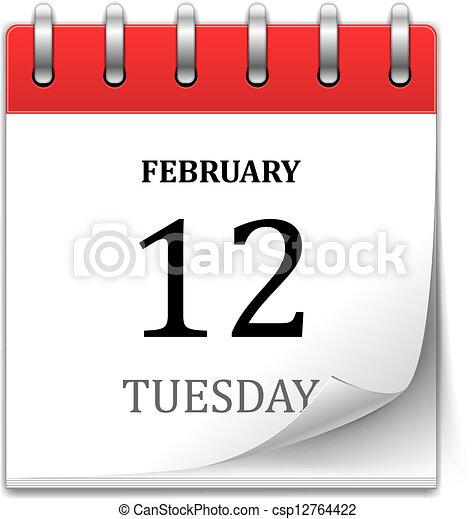 カレンダー, ベクトル, アイコン - csp12764422
