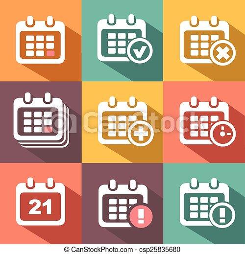 カレンダー, ベクトル, アイコン - csp25835680