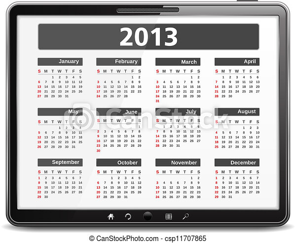 カレンダー, 2013 - csp11707865