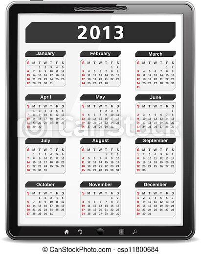 カレンダー, 2013 - csp11800684