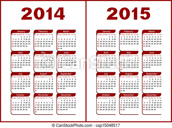 カレンダー, 2014 - csp15048517