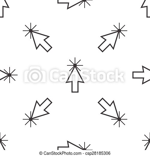 カーソル, パターン, 矢 - csp28185306