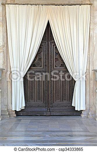 カーテン, ドア - csp34333865