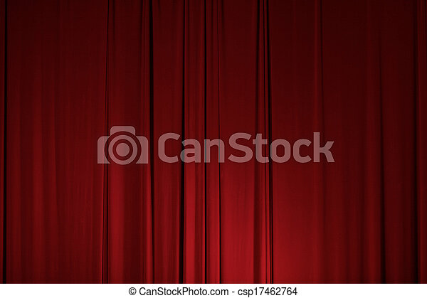 カーテン, ドレープ, 劇場, ステージ, 要素 - csp17462764