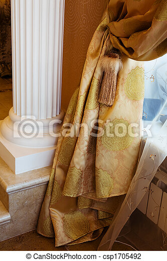 カーテン, 装飾 - csp1705492