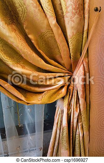カーテン, 装飾 - csp1696927