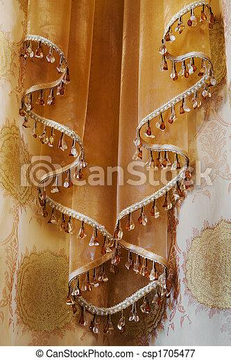 カーテン, 装飾 - csp1705477