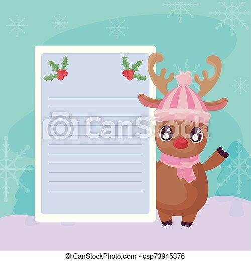 カード かわいい トナカイ クリスマス クリスマス ベクトル カード イラスト かわいい デザイン トナカイ