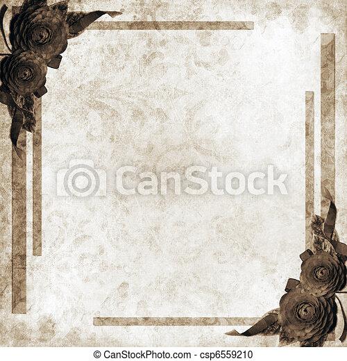 カード, ばら, 挨拶, 背景, ∥あるいは∥ - csp6559210