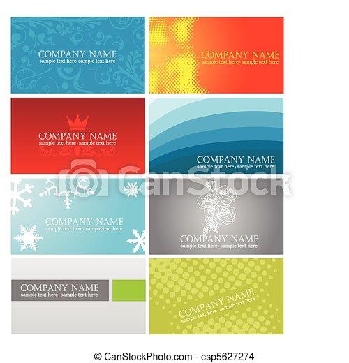 カード, カラフルである, ビジネス - csp5627274