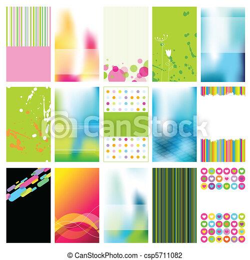 カード, セット, ビジネス - csp5711082