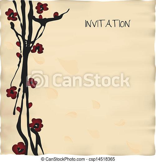 カード, テンプレート, 招待 - csp14518365