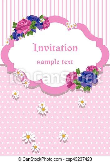 カード, ローズのレース, 装飾, 招待 - csp43237423