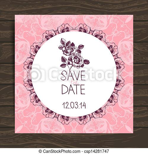 カード, 招待, 結婚式 - csp14281747